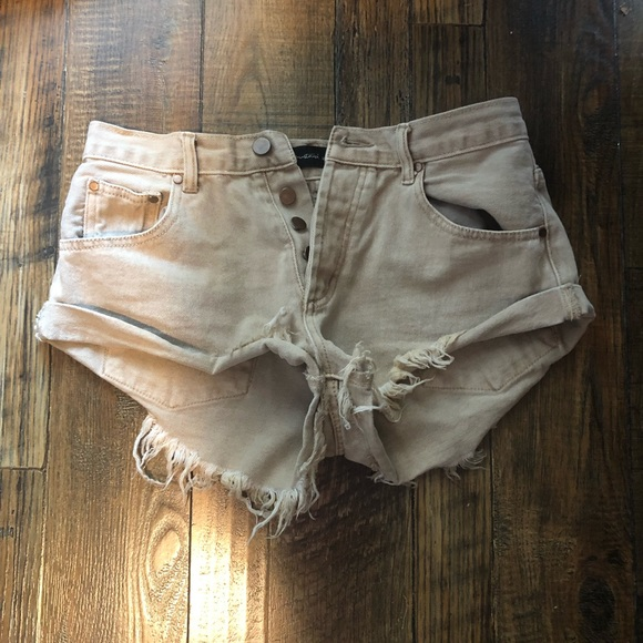 Mustard Seed Pants - Beige high waisted shorts